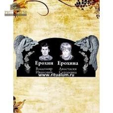 Памятник резной из гранита ЧПУ «Скорбящий с розами-семейный» — ritualum.ru