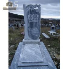 Памятник из мрамора стандарт 65 — ritualum.ru
