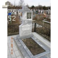 Памятник из мрамора стандарт 52 — ritualum.ru