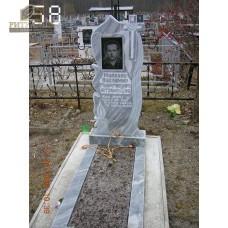 Памятник из мрамора стандарт 58 — ritualum.ru